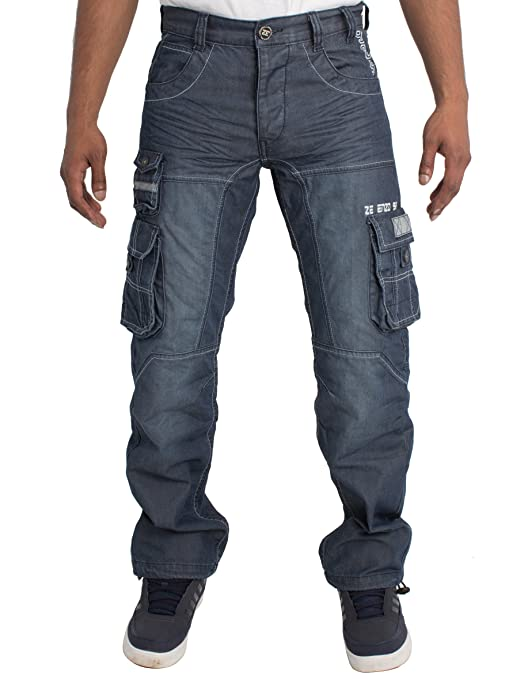 3c3c4d6b ENZO Mens Regular Fit Heavy Duty Work Cargo Combat Denim Jeans at Amazon  Men's Clothing store: