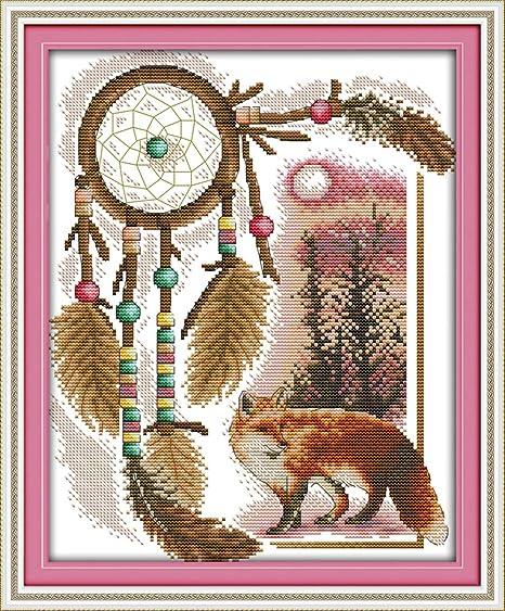 WHEEXLOCK - Juego de punto de cruz, diseño de zorro de Totem (11 ...