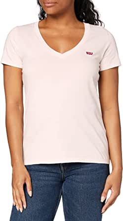 Levi's Vneck Camiseta de Manga Corta para Mujer