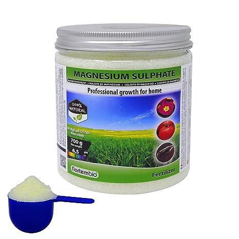 Nortembio Sulfato de Magnesio 700 g, Abono universal, Fertilizante Natural para Cultivos, Plantas