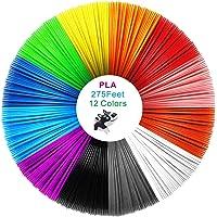 PLA-filament 1,75 mm, 3D-utskrift PLA-filament för 3D-skrivare och 3D-penna, dimensionell noggrannhet +/- 0,02 mm, 1 kg…