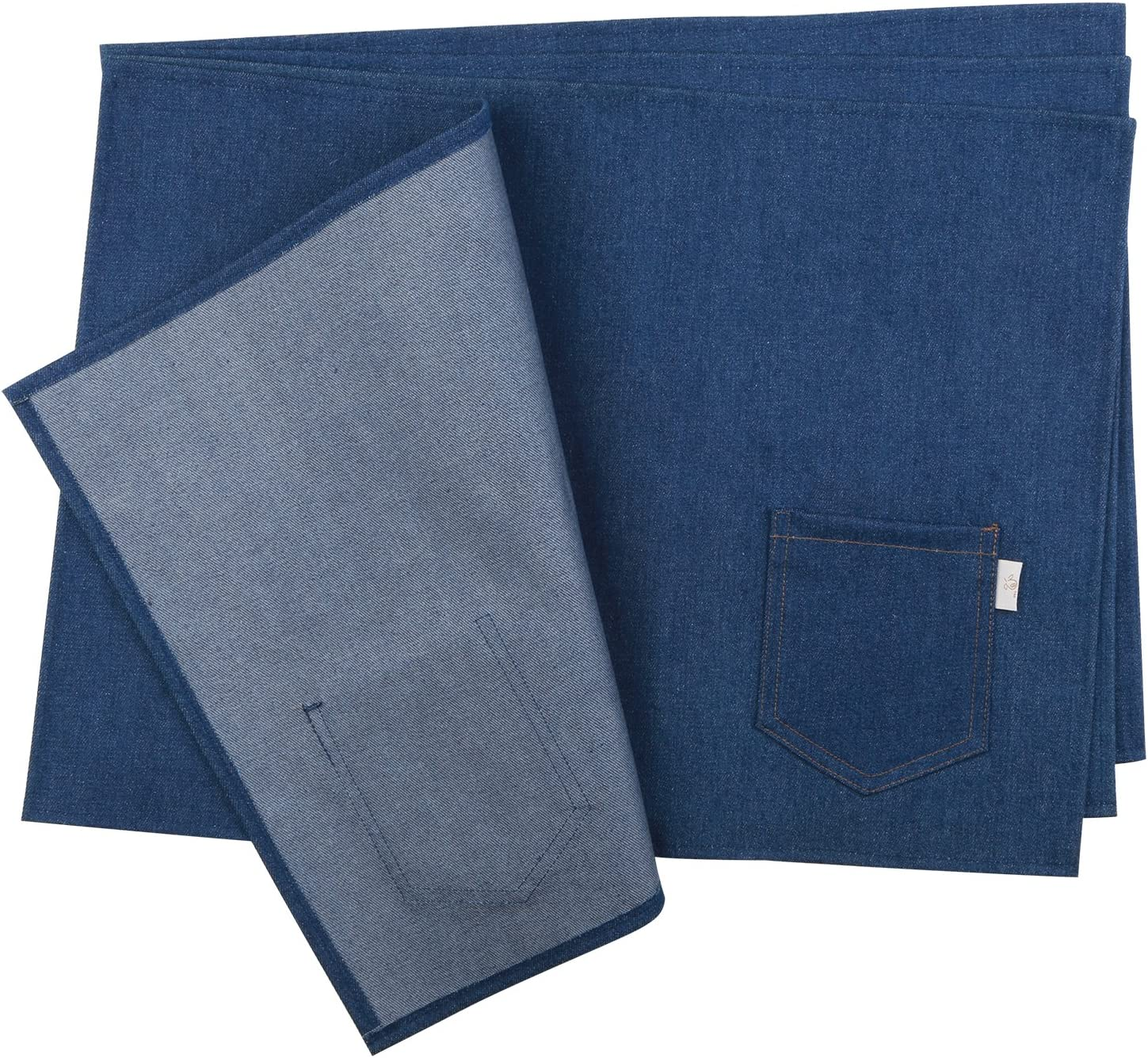NEOVIVA Waterproof Placemats, Set of 4, Solid Indigo Blue