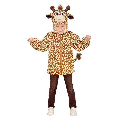 Disfraz para niños Jirafa de Peluche, Chaqueta con Capucha y máscara