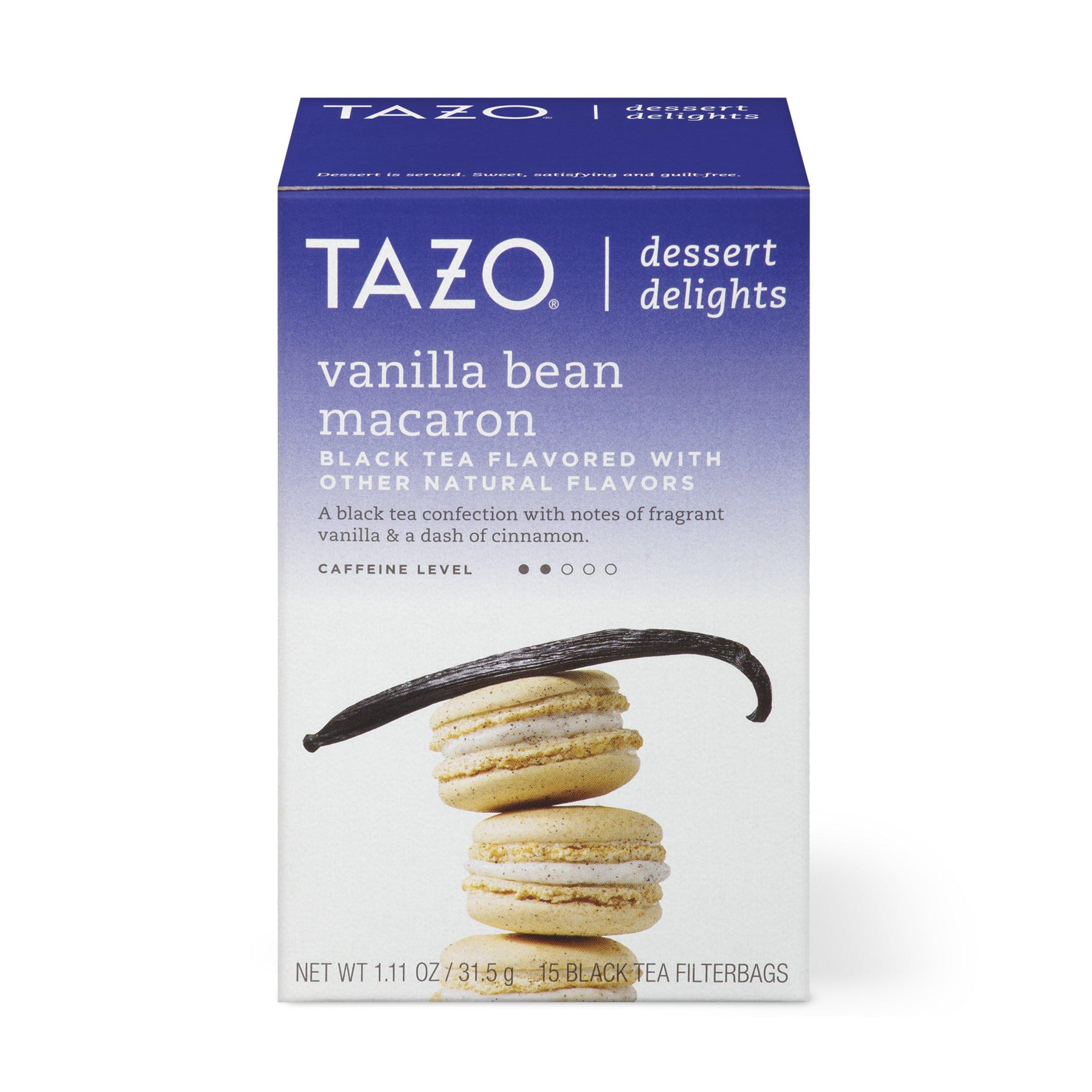 Tazo Filterbag Tea, Vanilla Bean Macaron, 15 Ct (Pack of 6)