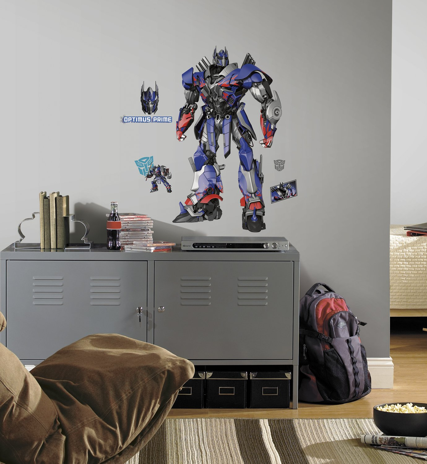 Amazon.com: RoomMates Transformers: Age of Extinction Optimus Prime Peel  and Stick Giant Wall Decals: Home Improvement