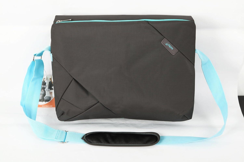 Bipra Laptop Messenger Bag 15.6 Inch Cute Slim Designer Shoulder Carry Tote | Computer Tablet Notebook Mobile Storage | Padded Adjustable Strap | Grey Blue