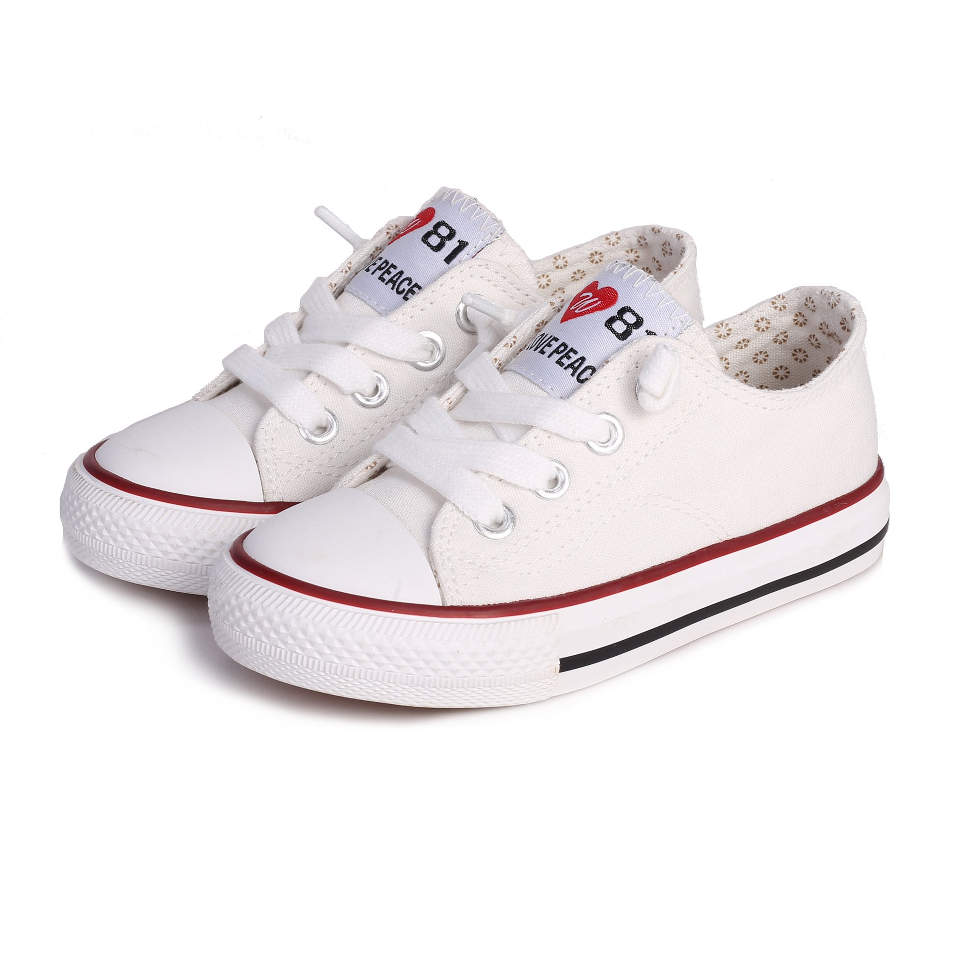 Weestep Canvas Sneaker (10, White)