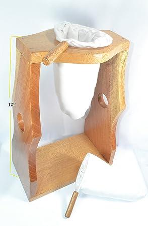 ticoland chorreador, Costa Rica, hecha a mano de madera soporte cafetera eléctrica, incluye