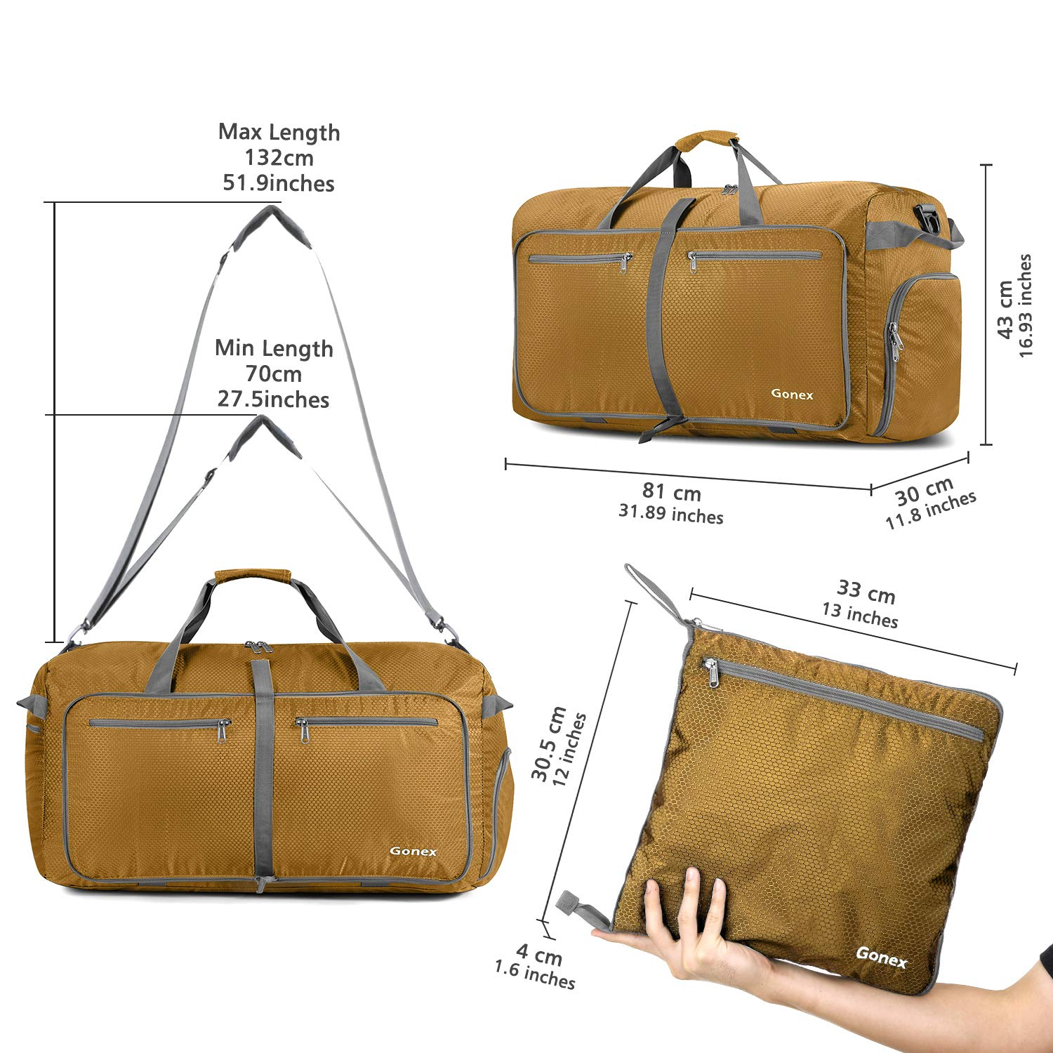 Extra Large Luggage Duffel 12 Color Choices Gonex 100L Foldable Travel Duffle Bag
