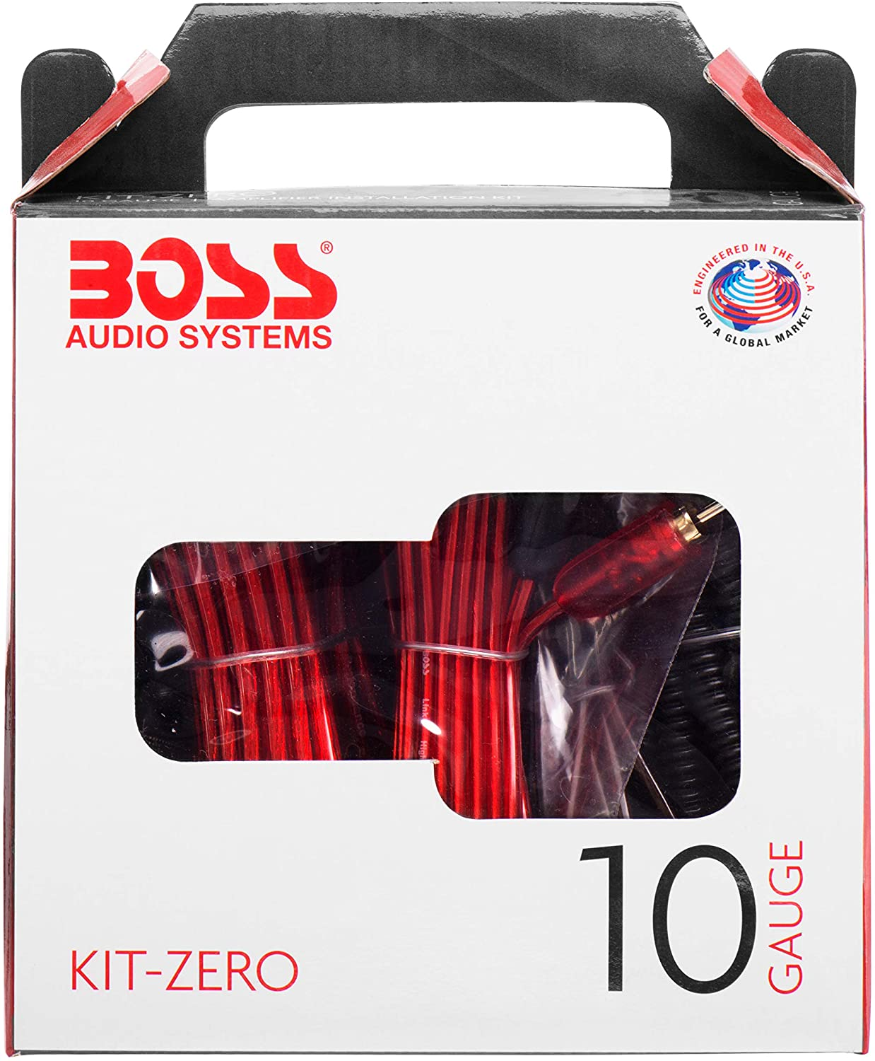 BOSS Audio Systems KIT-ZERO 10 Gauge Wiring Installation Kit for Car Amplifiers - A Car Amplifier Wiring Kit Helps You Make Connections and Brings Power to Your Radio, Subwoofers and Speakers 81wLDlz0RBL