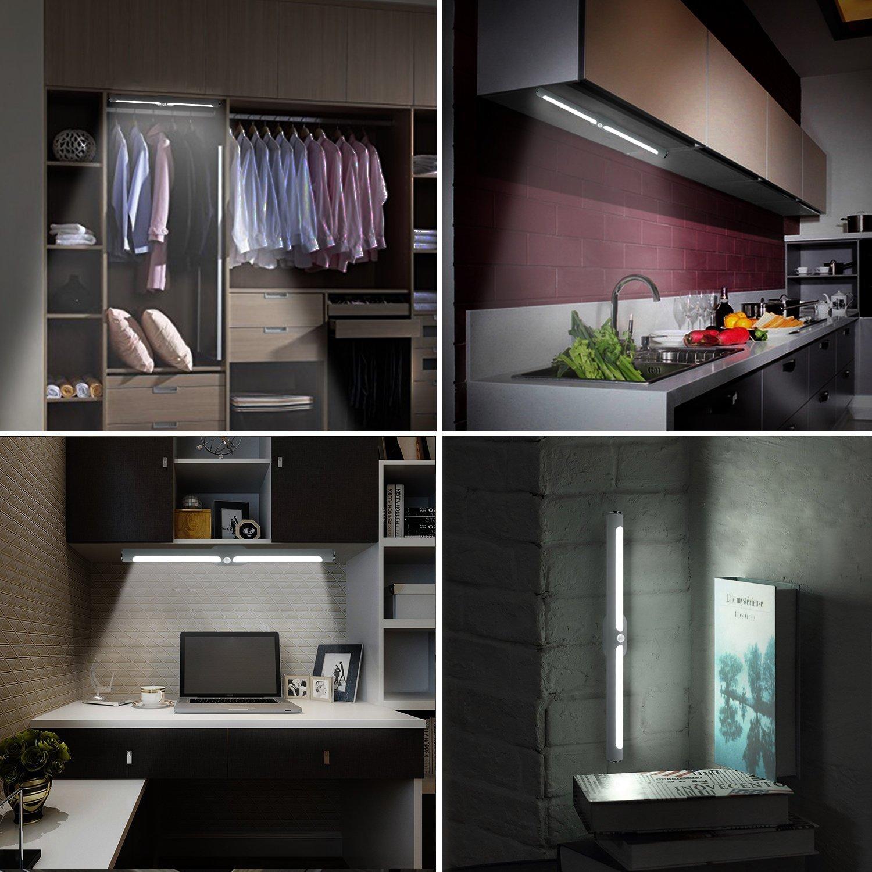 HogarTech 2W Led Spiegelleuchte Spiegellampe mit Touch Schalter ...