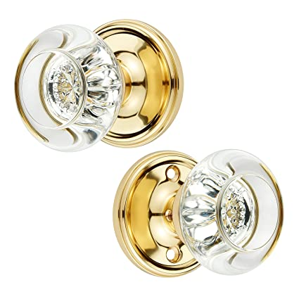Casakora Crystal Passage Doorknob U2013 Luxurious Set W/Fully Functional Inner  U0026 Outer Crystal Door