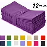 Cotton Craft Napkins, 12 Pack Oversized Dinner Napkins 20x20 Grape, 100% Cotton, Tailored with Mitered corners and a generous hem, Napkins are 38% larger than standard size napkins