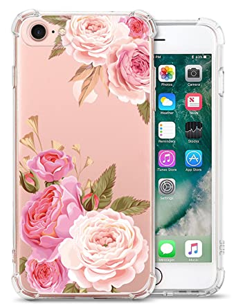 Amazon.com: Transparente iPhone 7 Funda iPhone 8 Funda para ...