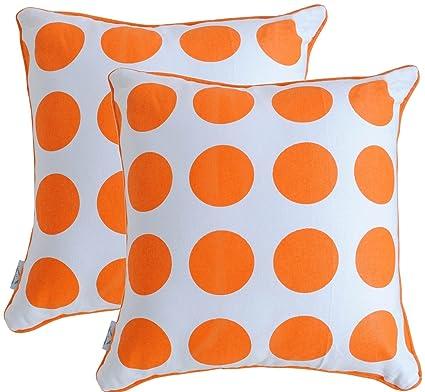 bringbringbring azul marino naranja lunares impreso en color ...