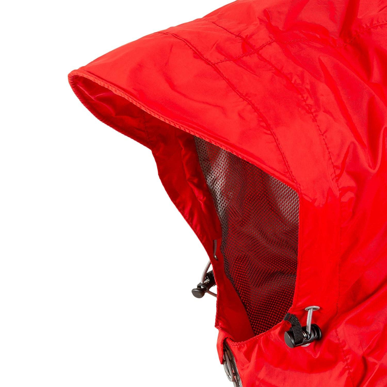 Highlander Herren Red Jacket Stow Und Go Packaway Regenjacke