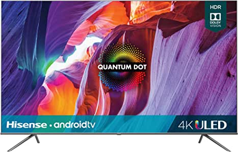 Hisense 75-Inch Class H8 Quantum Series Android 4K ULED Smart TV with Voice Remote (75H8G, 2020 Model)