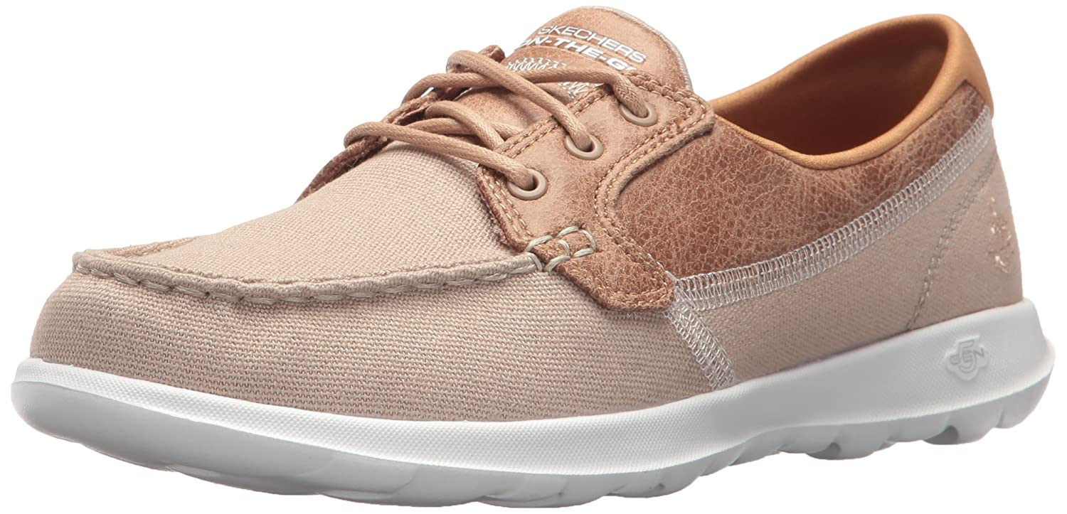 bf08243114 Skechers Women s Go Walk Lite-Coral Boat Shoes  Amazon.co.uk  Shoes   Bags