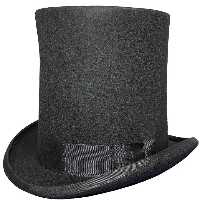 Gents Lincoln alto sombrero de copa - 100% lana - con forro de raso   Amazon.es  Ropa y accesorios 5789f5d058a
