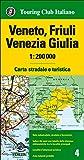 Veneto, Friuli Venezia Giulia 1:200.000. Carta stradale e turistica. Ediz. multilingue