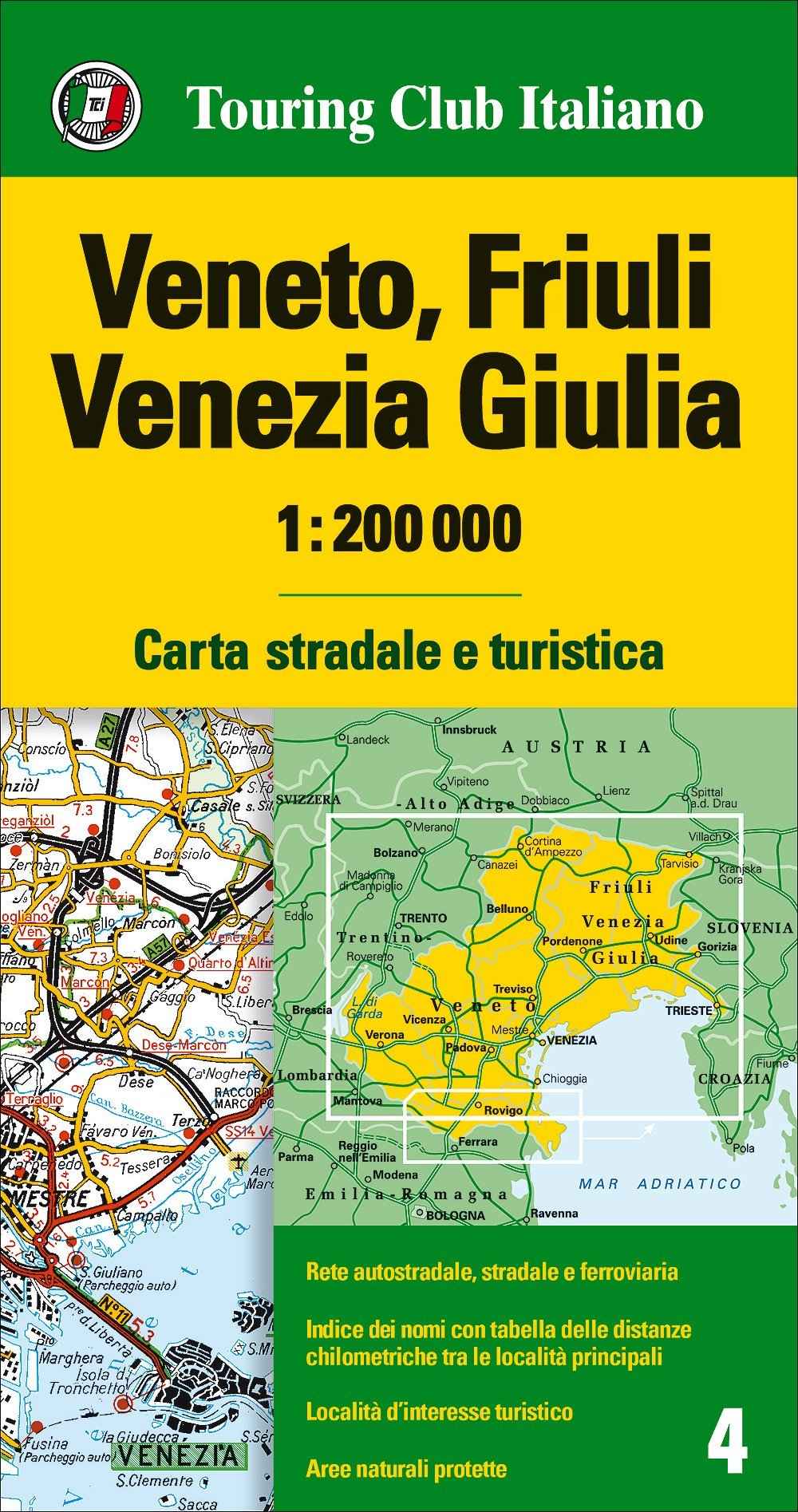 Cartina Turistica Venezia.Amazon It Veneto Friuli Venezia Giulia 1 200 000 Carta Stradale E Turistica Ediz Multilingue Aa Vv Libri In Altre Lingue