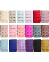 18 PCS Women Bra Extenders Brassiere Extension Hooks Assorted Color 3 Rows 2 Hooks Style Women Lingerie Bra Accessories
