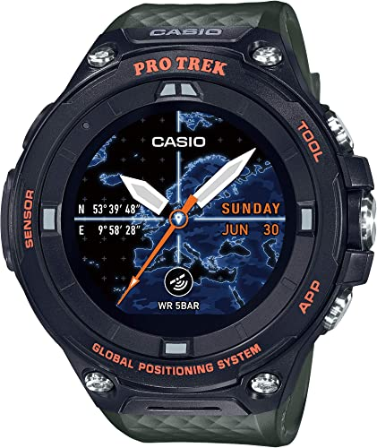 Casio Men's PRO Trek Stainless Steel Quartz Watch with Resin Strap, Green,  25.2 (Model: WSD-F20A-GNBAU): Amazon.fr: Montres