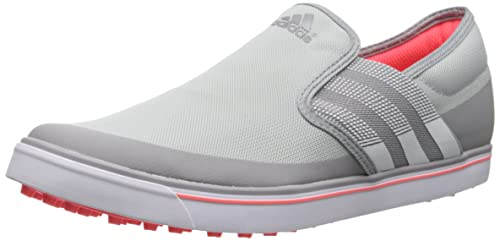 Outlet Online Womens Shoes adidas Golf Adicross SL Clear Onix/Running White/Flash Red