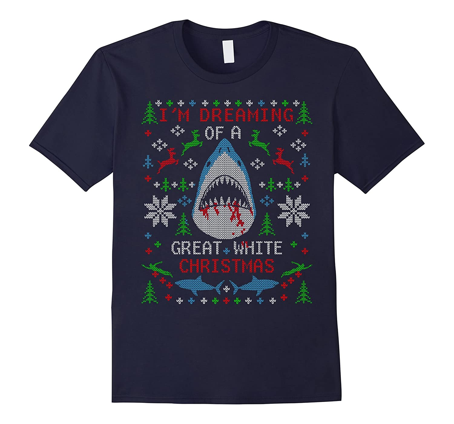 Great White Shark Ugly Christmas Sweater-ANZ