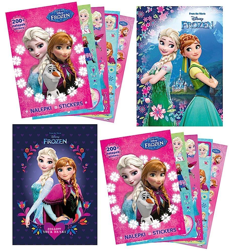 Frozen Eiskönigin 2x Sammel Album 2x Sticker Heft mit 400 Stickern 18 Ausmal Seiten Anna Elsa Sticker von kids4shop Aufkleber zum sammeln