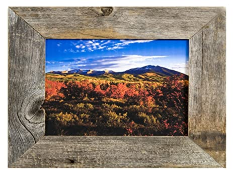 mybarnwoodframes 16x20 rustic barnwood picture frame with 2 inch frame made from 100 - My Barnwood Frames