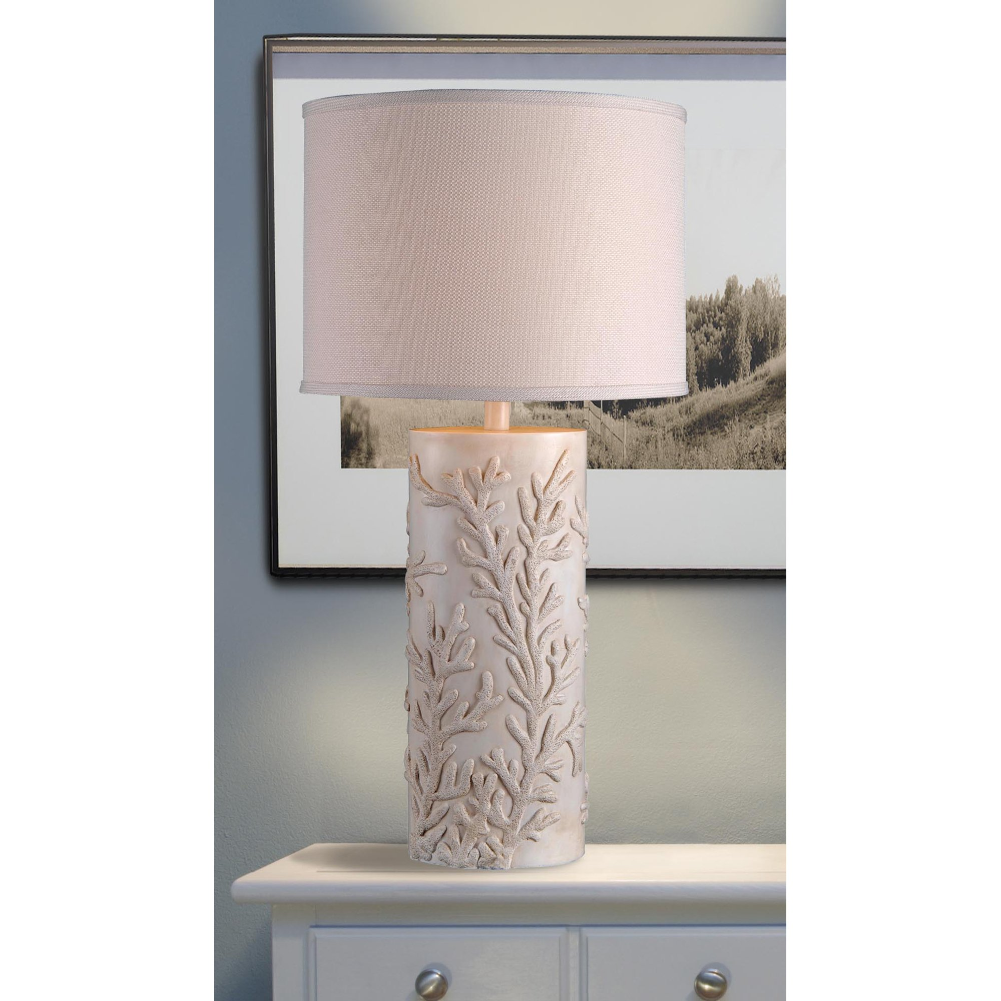 Kenroy Home 32267AWH Reef Table Lamp, Antique White Finish by Kenroy Home (Image #2)
