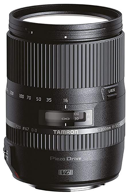 Tamron B016S AF 16-300mm F/3.5 6.3 Di II VC PZD Telephoto Lens for Sony DSLR Camera (Black) DSLR Camera Lenses at amazon