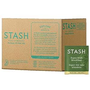 Stash Tea Super Irish Breakfast Black Tea, Box of 100 Tea Bags (Packaging May Vary)