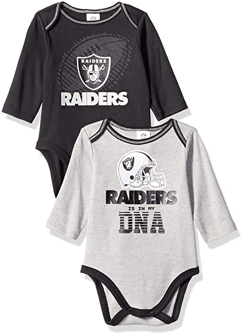 Image Unavailable. Image not available for. Color  NFL Oakland Raiders  Unisex-Baby 2-Pack Long-Sleeve ... 5468b3eb9