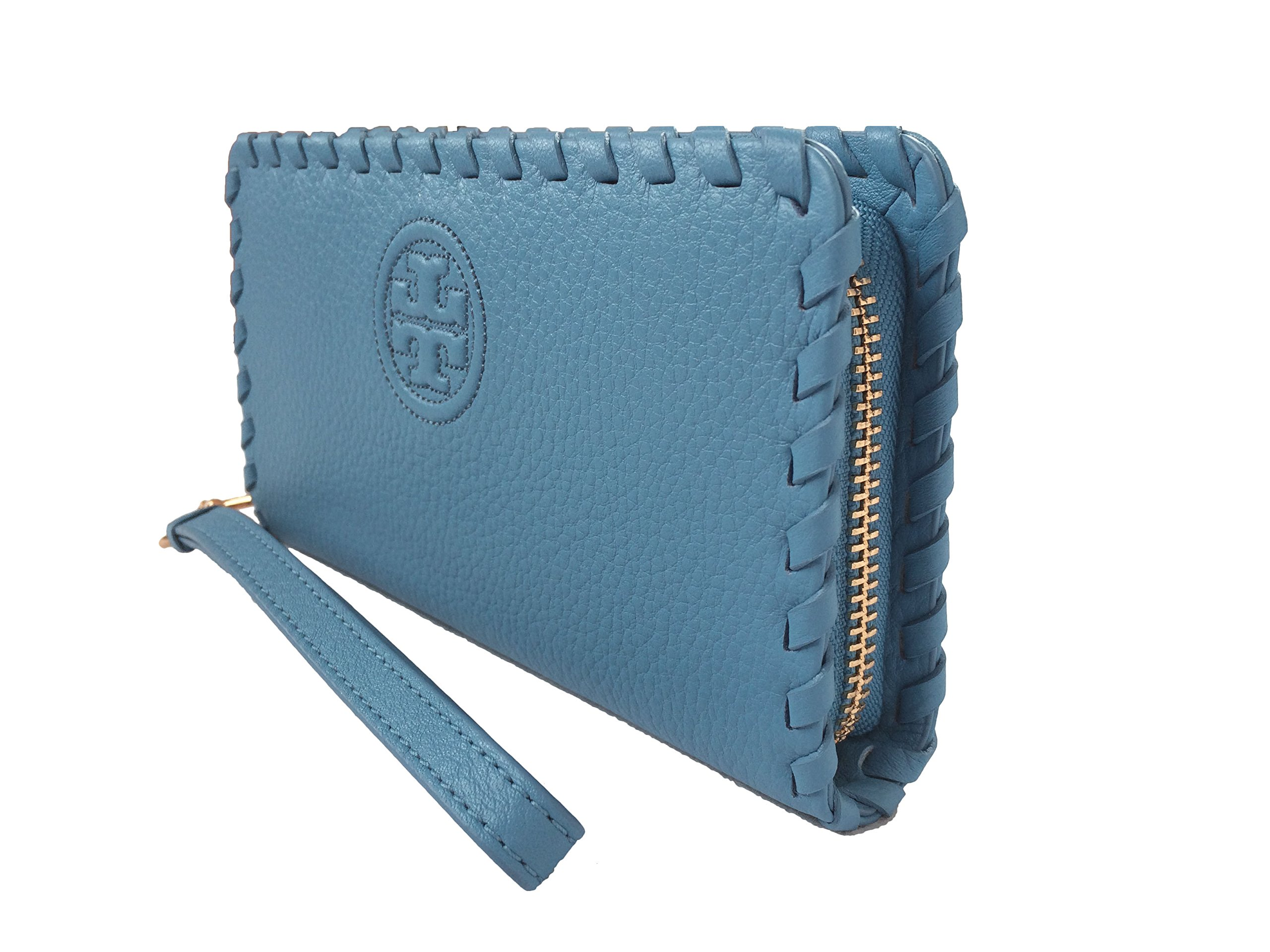 Tory Burch Marion Leather Smartphone Wristlet (Montego Blue) by Tory Burch (Image #5)