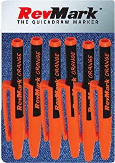 product image for RevMark Bright Series Industrial Marker - 6 Pack - Made in USA - Replaces paint marker for metal, pipe, pvc - ORANGE