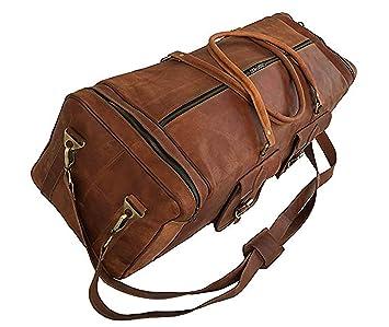 Amazon.com: Bolsas de viaje de piel de cabra auténtica ...