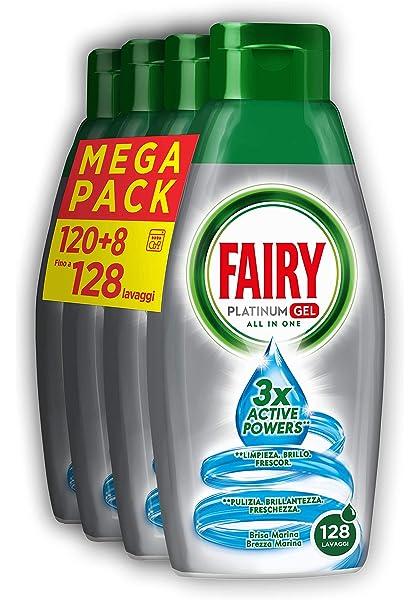 Fairy Platinum Gel Detergente para lavavajillas todo en 1, formato ...