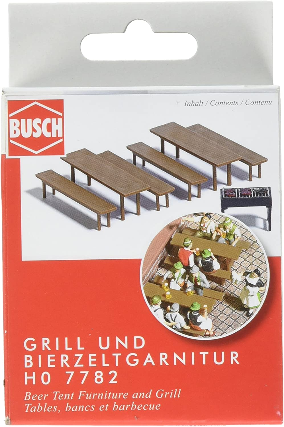 Busch 7782 Beer Tent Furniture/Grill HO Scenery Scale Model Scenery
