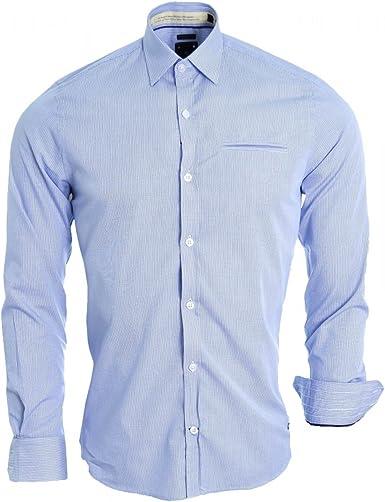Camisa JAQK azul Wheel Madison para hombre azul XXL: Amazon ...