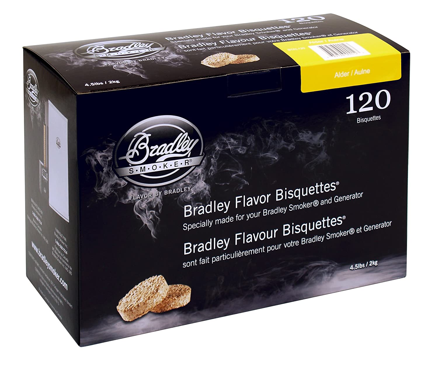 BRADLEY ALDER FLAVOUR SMOKERS BISQUETTES (PACK OF 120) SportsCentre BTAL120