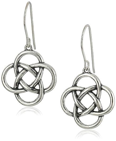 Amazon Sterling Silver Oxidized Celtic Knot Dangle Earrings