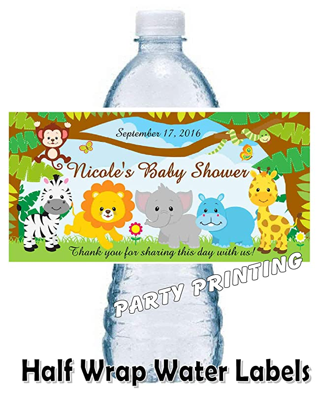 Personalized Gender Reveal Water Bottle Labels Baby Shower Favors