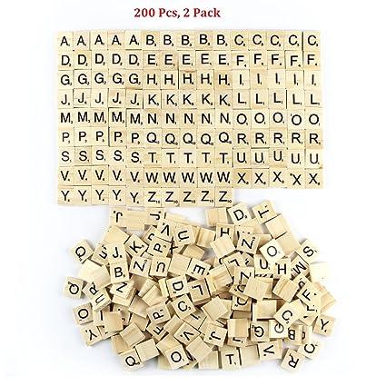 Amazon.com: Amaonm 200 Pcs DIY Wood Letters, Letters Tiles