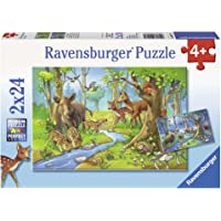 Ravensburger Cute Forest Animals Puzzle 2x24pc,Children's Puzzles