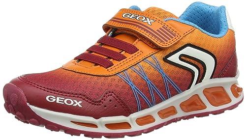 Geox J Shuttle B, Zapatillas para Niños, Rojo (Dk Red/Orange), 29 EU
