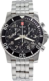 Victorinox Swiss Army Mens Maverick II Swiss Quartz Stainless Steel Sport Watch, Color
