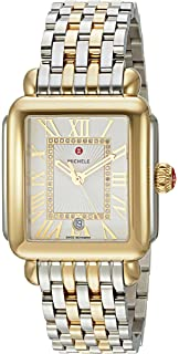 d02de665c Amazon.com: Michele Deco Twelve Diamonds Chronograph 18k Two Tone ...