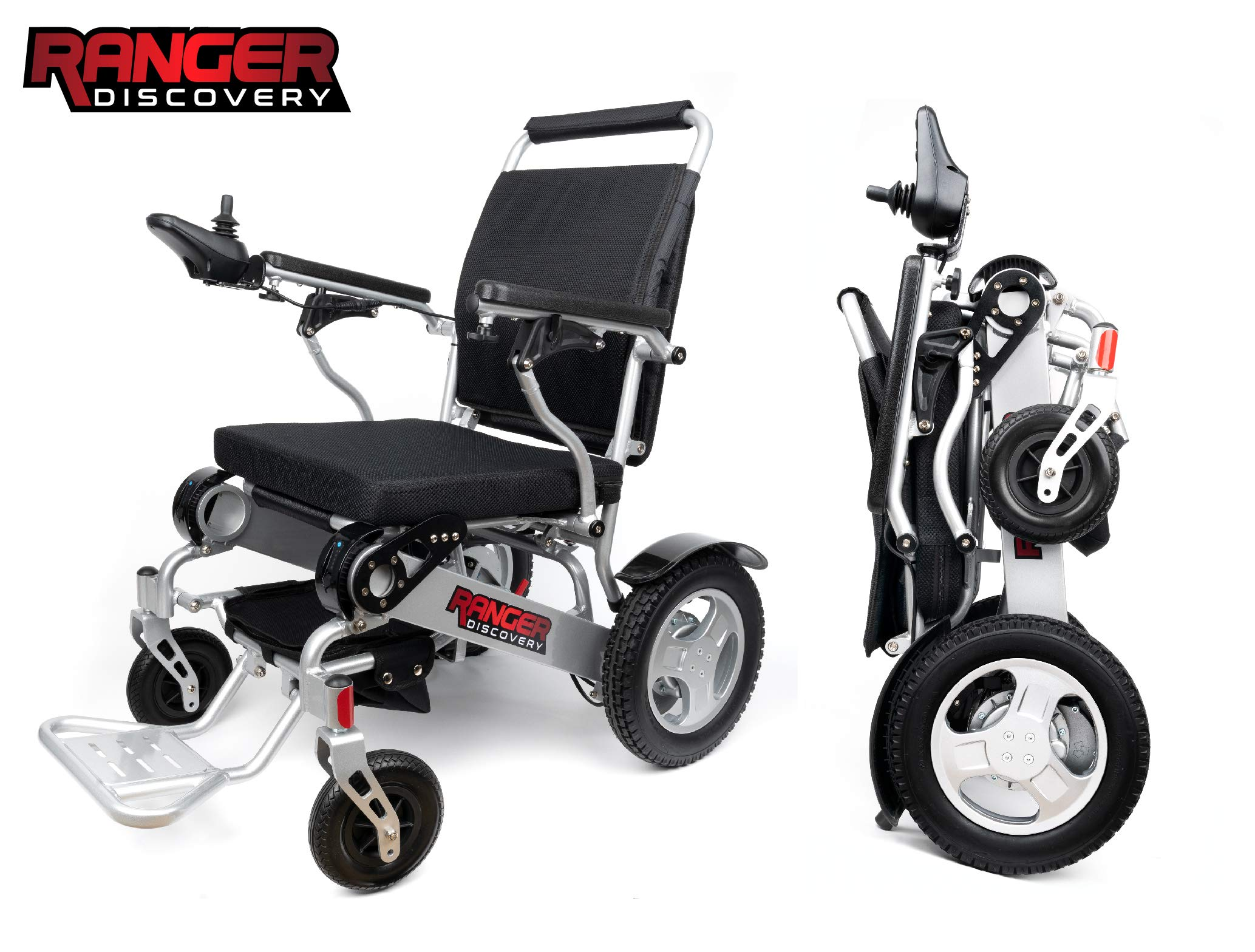 Porto Mobility Ranger D09 Premium Electric Power Wheelchair, Lightweight, Portable, Folding Motorized Wheelchair, Heavy Duty, Compact Folding Power Wheelchair, Airplane Permitted (Free Travel Case)